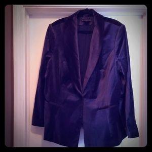 White House Black Market Navy Tuxedo Jacket